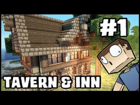 Minecraft Lets Build: Tavern & Inn - Part 1