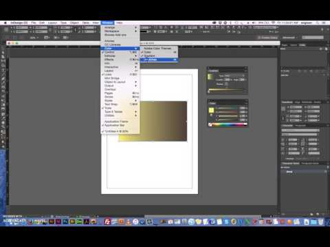 indesign changing color in gradient