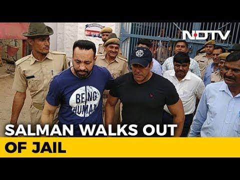 Salman Khan Walks Out Of Jodhpur Jail After Getting Bail