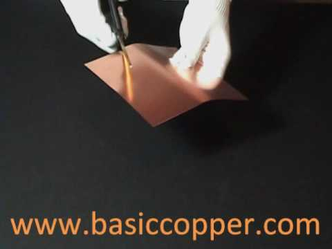 Copper Sheet Thickness Guide 10 mil (30 gauge)