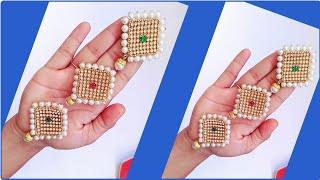 How To Make Hair Accessories/Jada Billalu/Pearl Hair Accessories..!