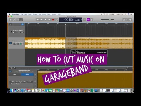 HOW TO CUT MUSIC ON GARAGEBAND 2018 | Version 10.2.0