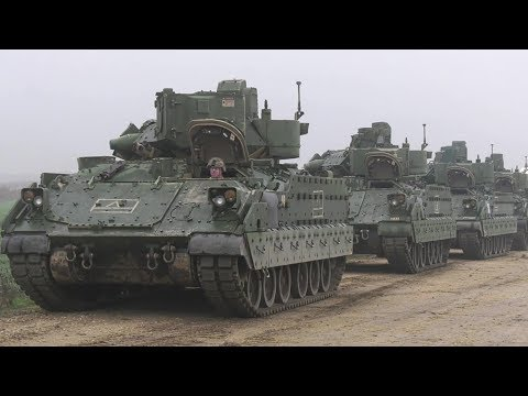 U.S. Army Heavy Armor Rolls Into Romania As Part of Atlantic Resolve Deployment