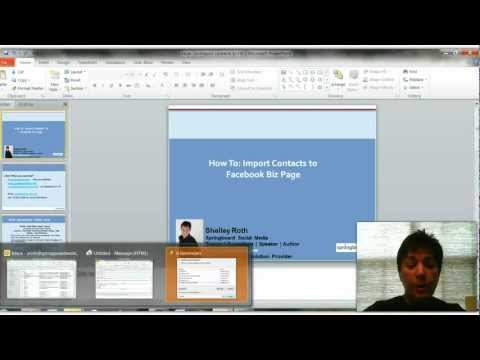 How To: Import Contacts to Facebook