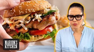 ALL the good things are in this grilled chicken sandwich | Thai-style Grilled Chicken Burger