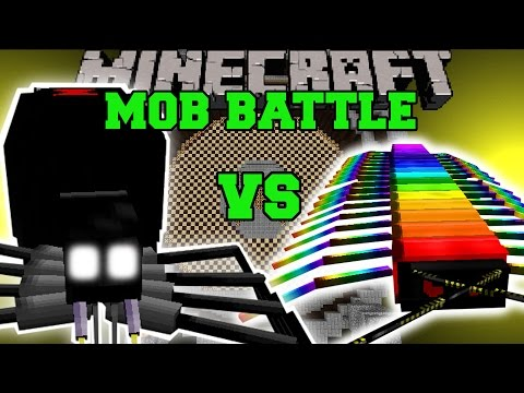 BLACK WIDOW VS RAINBOW CENTIPEDE - Minecraft Mob Battles - Minecraft Mids