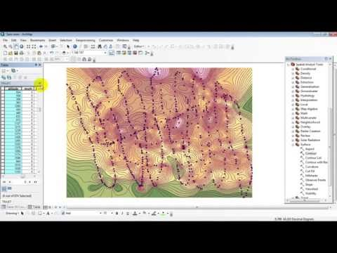 Creating topographic Contour From Google Earth In ArcGis