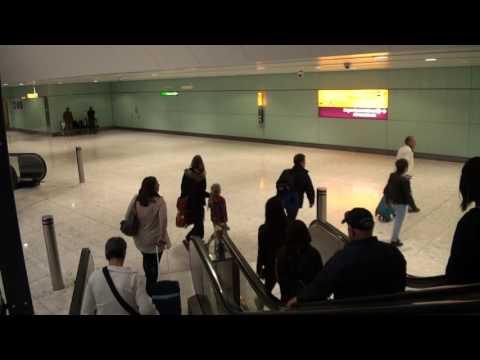 UK Arrival at Heathrow Airport Terminal 2 ,London.