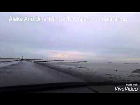 Driving to Holy island -  through north sea.