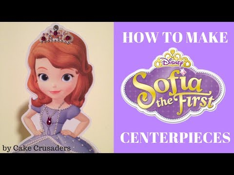 How to make Sofia the First party decorations centerpieces