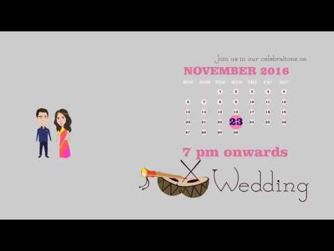 Animated Wedding Invite sample
