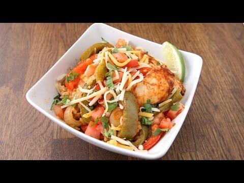 Easy Chicken Fajita Rice Bake