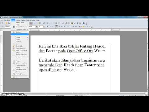 How to add Header & Footer - OpenOffice.org Writer