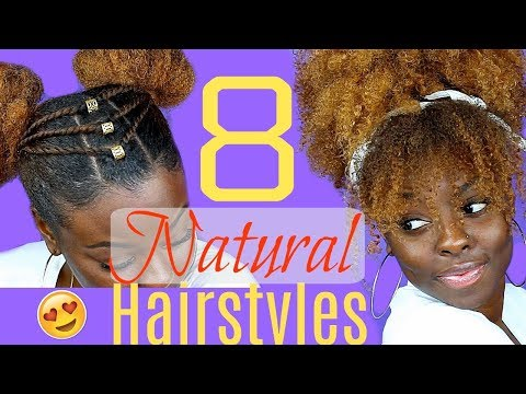 8 QUICK & EASY HAIRSTYLES for NATURAL HAIR