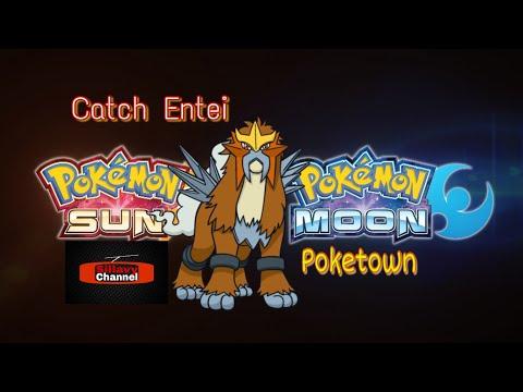 Catch Entei on Poketown
