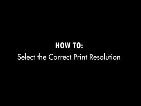 How to Select the Correct Print Resolution using Illustrator