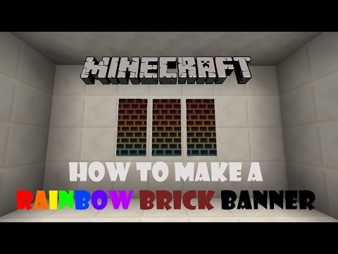 Minecraft - How to Make a Rainbow Brick Banner