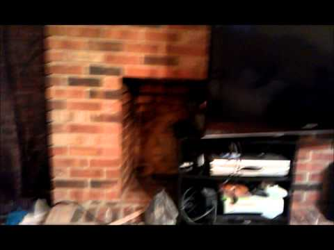 Painting red brick Fireplace a stone grey