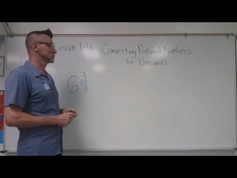 1-4 Converting Rational Numbers to Decimals
