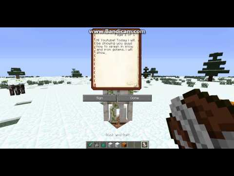 How to Spawn Snow and Iron golems -Minecraft PC-