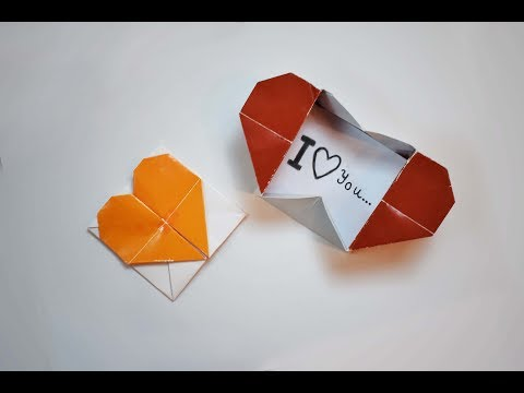 How to make a paper Heart box?