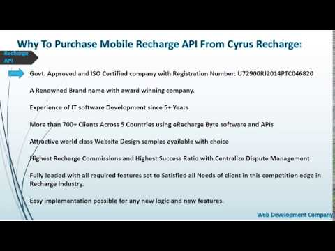 Get the online recharge API in India