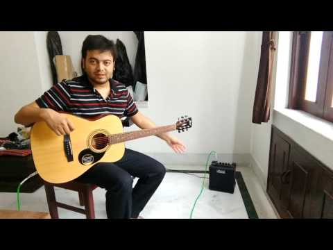 PALCO PL105 15WATT Amp | Sound testing with Guitar and Keyboard (Roland e09 Indian edition)  by Gora