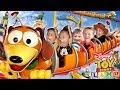 TOY STORY LAND Slinky Dog Dash Roller Coaster Disneys Hollywood Studios Florida FUNnel Family