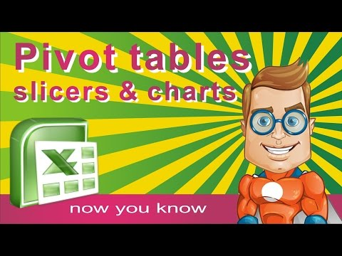 PIVOT Slicers - PIVOT Charts in Excel - How to make, insert and modify - Tutorial