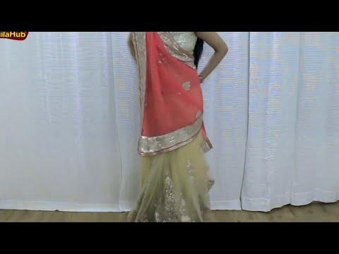 How To Wear Saree As Lehenga Saree | Drape Indian Ethnic Wedding Sari Blouse with Jiilahub