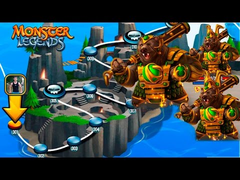 301-310 остановки Остров Камня Карта странствий Monster Legends HD