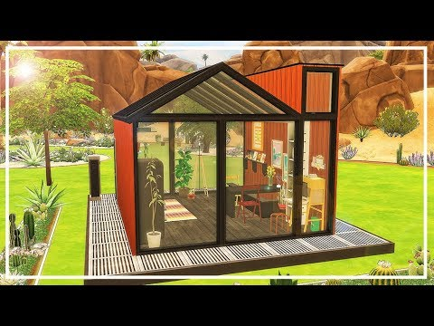 SIMS 4 BUNKIE TINY HOUSE 💙 Speed Build + CC List