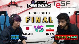 HIGHLIGHTS FINAL ESPORTS WORLD CHAMPIONSHIP PES 2020 UDI (JAPAN) VS HASAN PAJANI (IRAN)