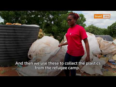 Feature - Somali refugees turn plastic waste warriors in one of the world's biggest camps