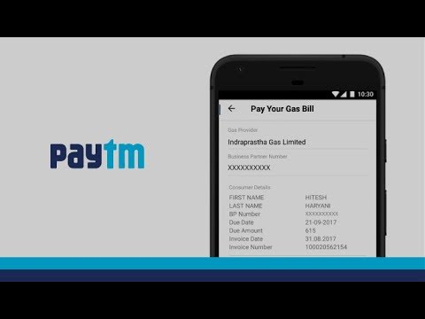 Steps to pay your Gas bill using Paytm App.