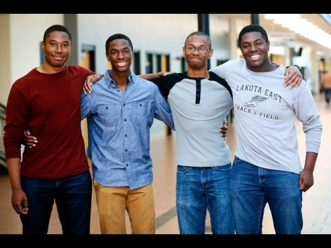 These quadruplets all made it into Harvard and Yale