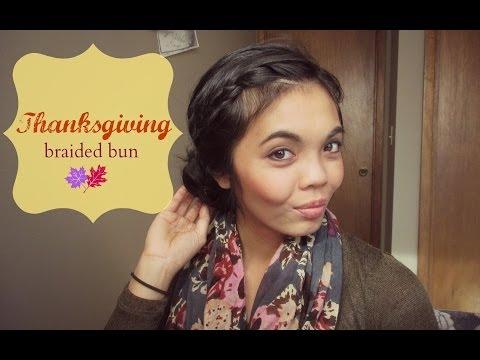 Thanksgiving Braided Bun
