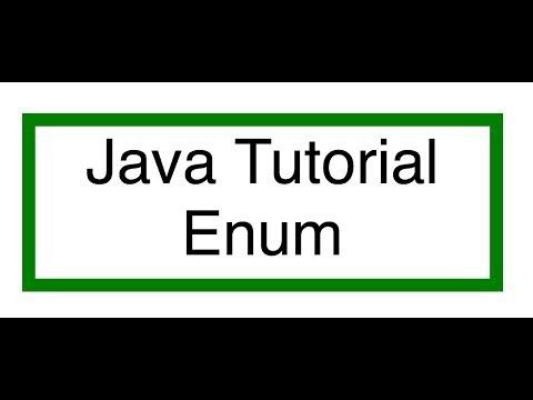 Java Enumeration Tutorial