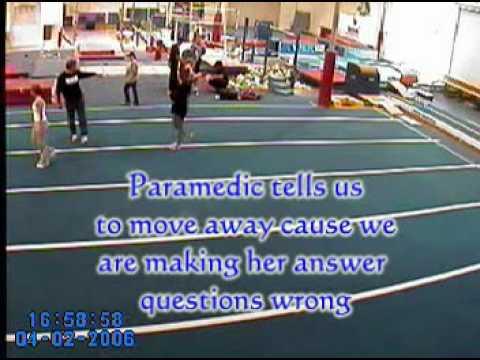 Gymnastics crash and mis handling by paramedics