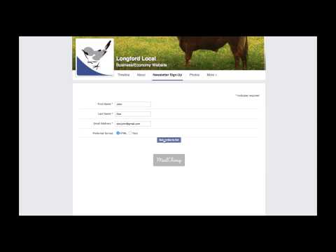 How to sign up to the Longford Local mailing list using Facebook