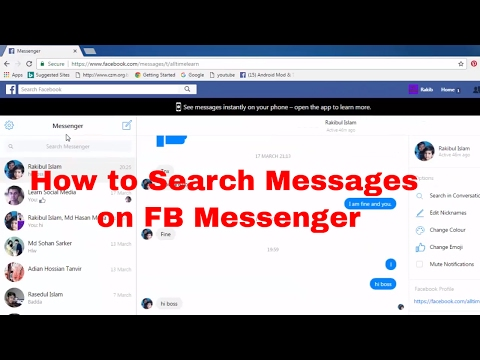 How to Search/Find Old Messages History From Facebook Messenger FB Tips 59