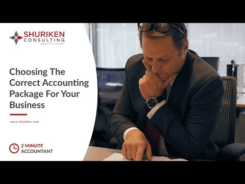 The Two Minute Accountant: Choosing The Correct Accounting Package For Your Business