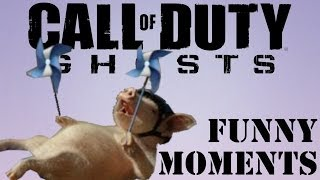 CoD Ghosts Random Funny Moments - Corpse Launches, Log Trap, Death Reactions