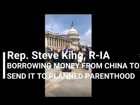 06, Borrowing Money from China to Send It to Planned Parenthood