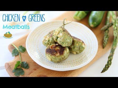 Chicken Asparagus Zucchini Meatballs +9M