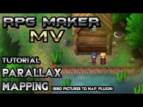 RPG Maker MV Tutorial: Parallax Mapping (BindPicturesToMap Plugin