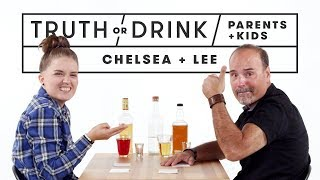 Parents & Kids Play Truth or Drink (Chelsea & Lee) | Truth or Drink | Cut