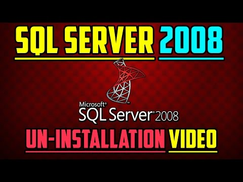 How To Uninstall SQL Server 2008 Completely!