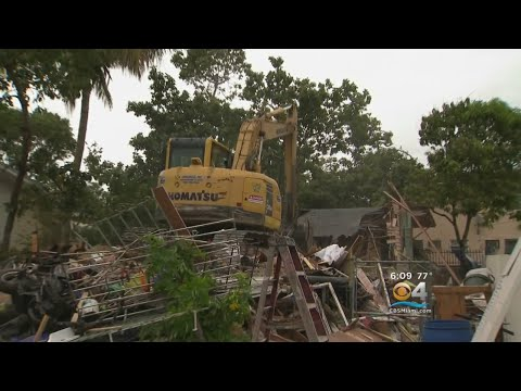 City Of Miami Demolishes Drug Homes In Little Havana