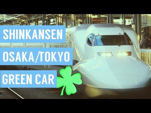 Shinkansen (Bullet Train) Osaka/Tokyo (Green Car) - Japan - VLOG #4